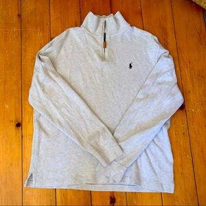Tan Polo By Ralph Lauren 1/4 zip men's large